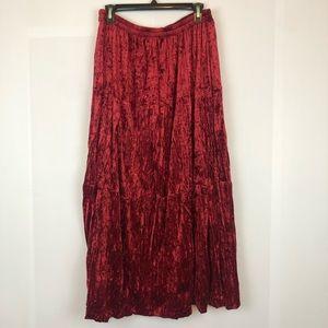 Cache velvet maxi skirt size 14